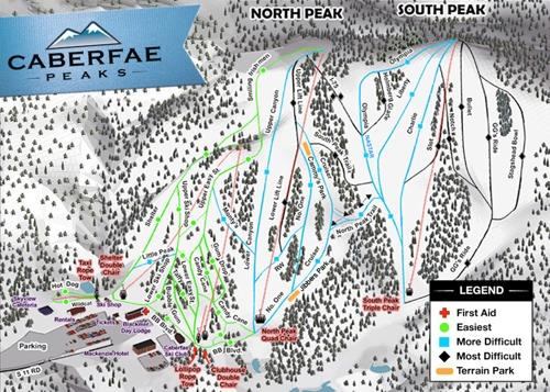 Caberfae Peaks Trail Map - Ski Cadillac